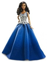 Barbie 2016 Holiday Doll Girls Christmas Gift New Colors Blue  - $60.25