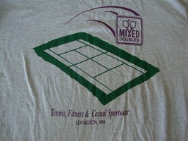 Vtg Mixed Doubles Tennis Fitness Casual Sportswear Lexington Ma T Shirt Adult L - $15.83