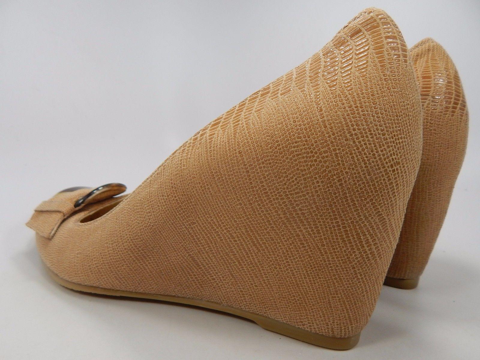 Stuart Weitzman Women's Nude Platform Wedge Heels US Size 10 M Model #CINW49628