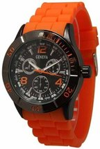 Geneva 1475-7227 Men's  Decorative Chronograph- ORANGE - $26.99