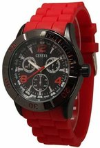 Geneva 1475-7227 Men's  Decorative Chronograph-Red  - $26.99