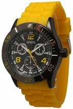 Geneva JB1475-7227 Men's  Decorative Chronograph-Yellow - $26.99