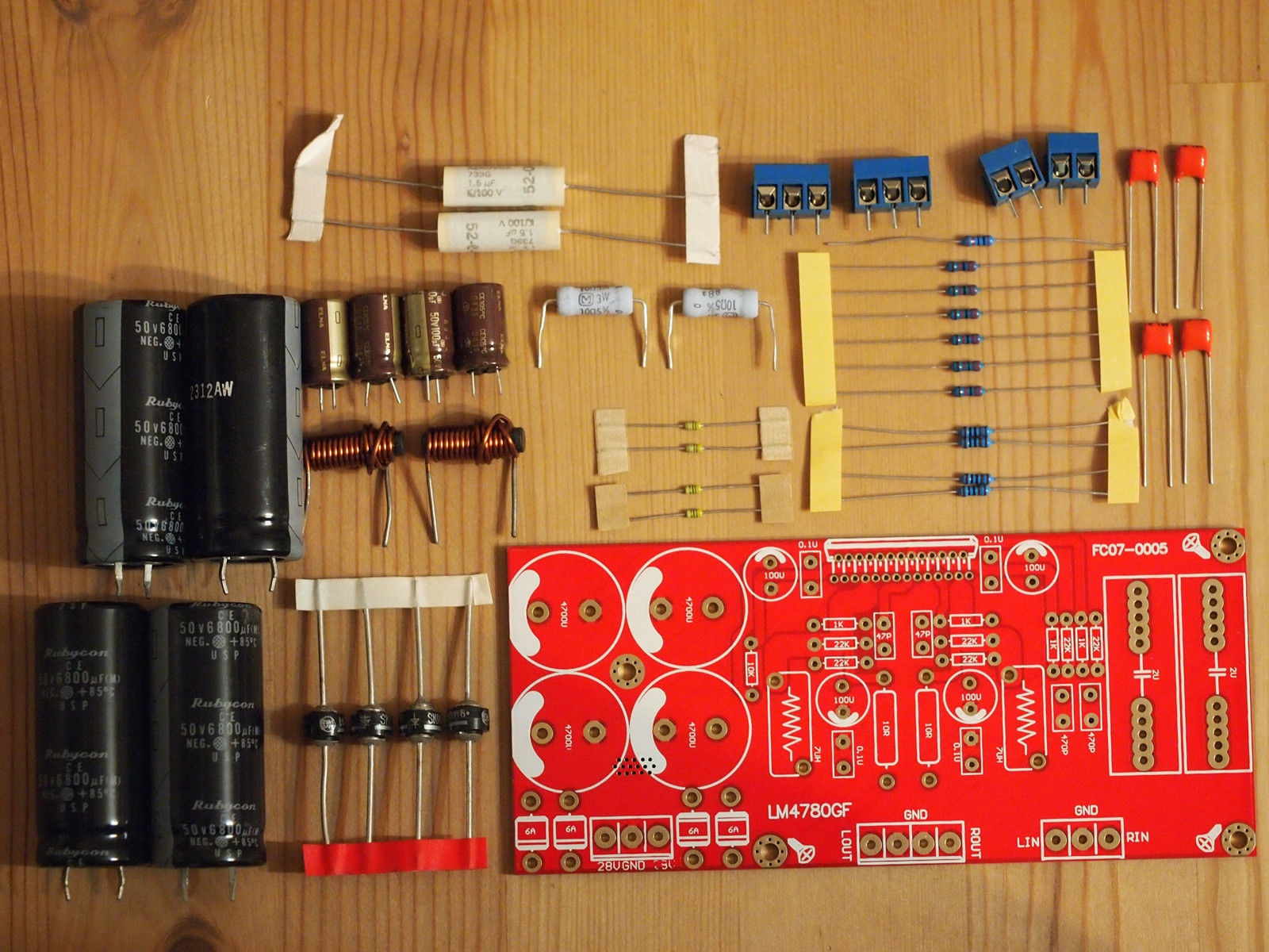 Lm4780 Stereo Parallel Power Amplifier And 50 Similar Items Alephx 100w Construction Notes Partial Kit