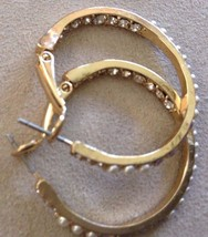 Hoop earrings Sparkle front and back choice of color costume image 1