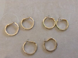 Hoop earrings Sparkle front and back choice of color costume image 2