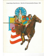 1975 US POSTAL SERVICE MINT SET OF COMMEMORATIVE POSTAGE STAMPS PLUS FOLDER - $7.00
