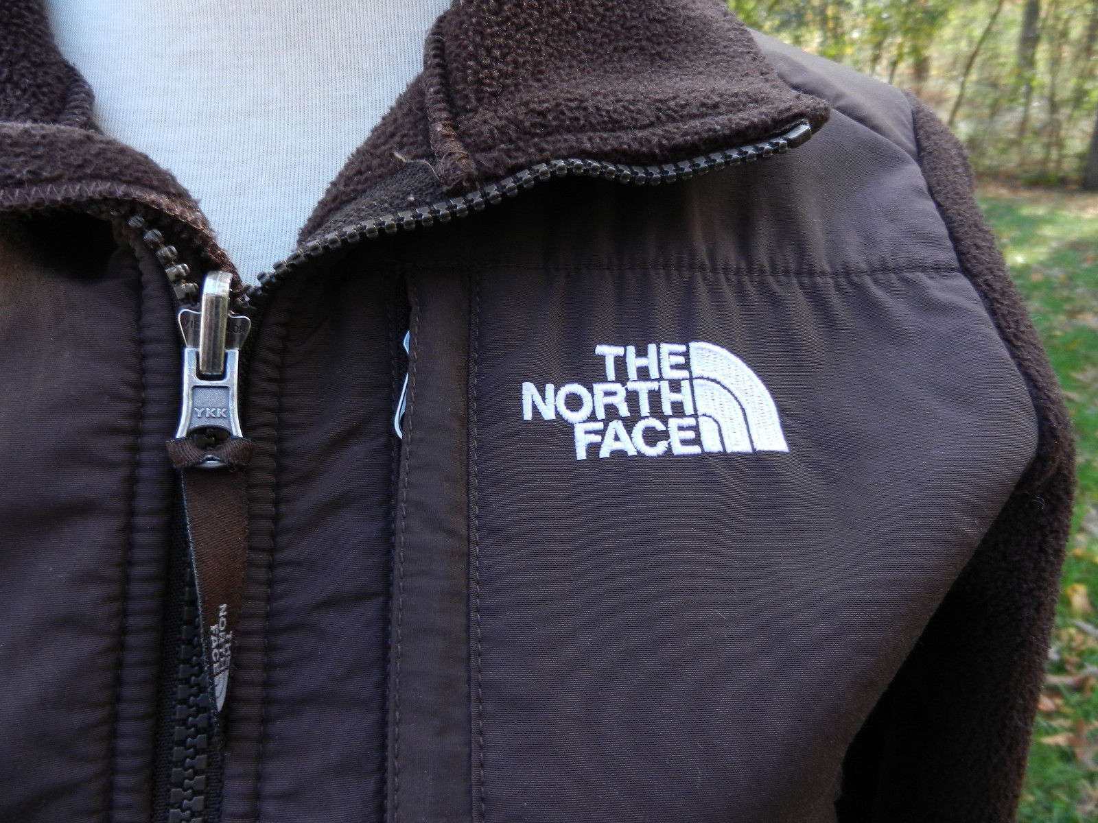 The North Face Brown Ls Jacket Polartec Fleece Zipper