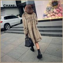 Sleek Long Full Pelt Platinum Imitation Mink Long Sleeve Thick Collar Fur Coat image 2