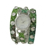 Geneva Platinum JB12954012 Designer Inspired wrap around  - GREEN PHYTON... - $34.99