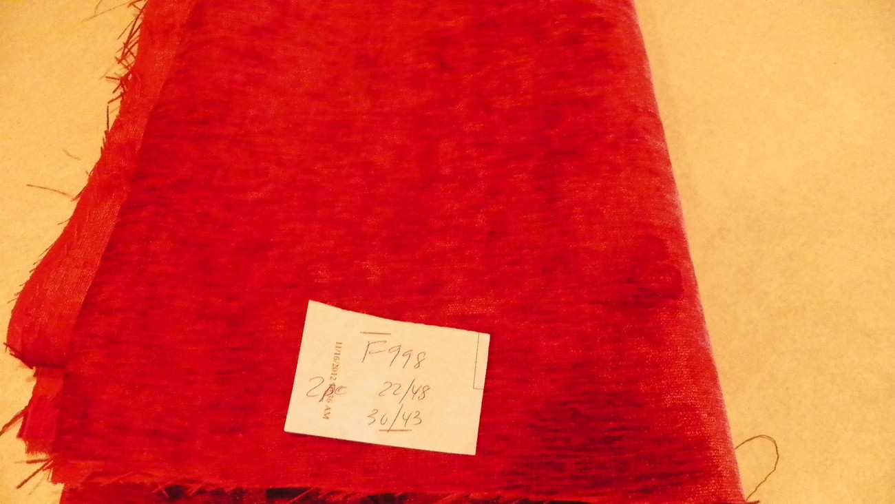 Red Velvet Fabric/Upholstery Fabric Remnant F998