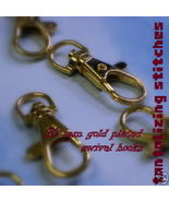 5 Gold No 1 1.5 Inch Lobster Swivel Clasps - $3.21