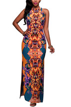 Women's Sleeveless, Printed, Side Split, Qmilch, One-piece Jumpsuit - $29.00