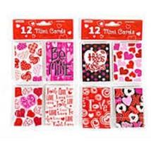 FLOMO TWELVE (12) VALENTINES DAY MINI CARDS ENVELOPES LOVE DECORATION NE... - $2.27