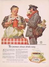 1941 Coffee Original Vintage Ad with Postman St... - $15.95