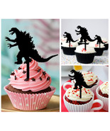 Ca294 Decorations cupcake toppers godzilla Silhouette Package : 10 pcs - $10.00