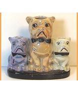 Bulldog Pug Porcelain Match Holder Japan - $35.00