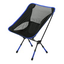Heightened Chair Seat Foldable Stool Outdoor(DEEP BLUE) - $46.18