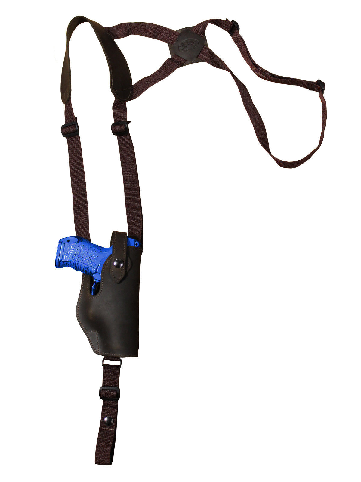 New Barsony Brown Leather Shoulder Holster Colt Springfield 380 UltraComp 9 40