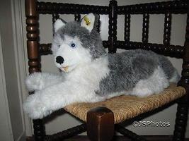 Steiff Molly Husky Dog 45 cm 104916 Button & Tag 1991 - $200.00