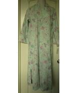 Miss Elaine Jacquard Fleece zip robe  Floral Print Size Medium Style 66... - $30.64