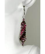 Russian spiral Swarovski crystal earrings - $45.00