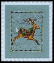 "NC113 ""DASHER"" XMas Eve Couriers by NORA CORBETT XSTITCH CHART W/ EMBELL... - $39.59"