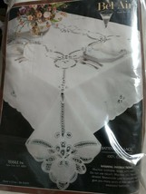 """Battenburg Lace Tablecloth 66""""x102"""" In Embroidery White 100% Cotton - $32.73"""