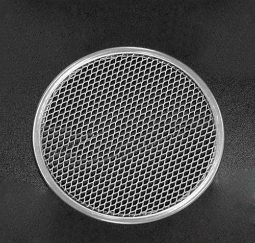 "10"" Thick Aluminum Pizza Pan Mesh Network Disk For Crispy And Evenly Baked Crust - $12.49"