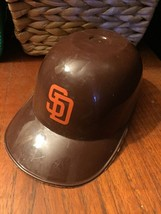Mini Plastic Baseball Sports Hat Helmet Ice Cream Bowl Cup MLB SD Padres... - $9.90