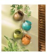 Mini Dangling Pots Indoor Outdoor Herbs Flowers Southwestern Terra Cotta - $19.26