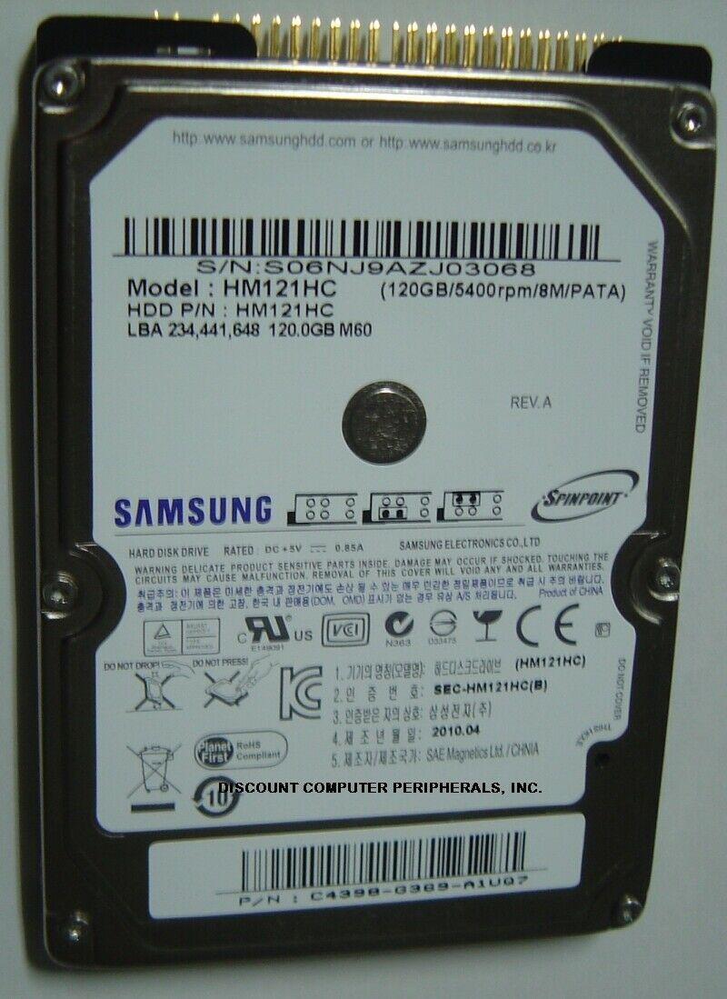 "New Samsung HM121HC 120GB IDE 44pin 2.5"" 9.5mm Hard Drive Free USA Ship HM121HC"
