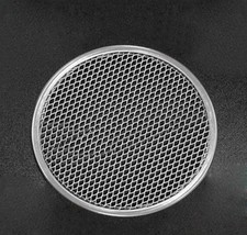 "6"" Thick Aluminum Pizza Pan Mesh Network Disk For Crispy And Evenly Baked Crust - $4.49"