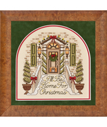 I'll Be Home For Christmas ross stitch chart Gl... - $10.80