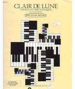 Clair De Lune Arranged For Easy Organ Mark Laub - $3.50