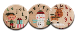 Santa's Helpers Magnet Collection (3 pcs) interchangeable jewlery Quilt ... - $10.00
