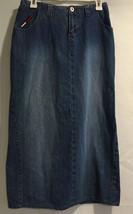 Tommy Hilfiger Work Church Full Length Casual Blue Denim Jeans Skirt Sz 3 - $12.99