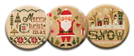 Vintage Christmas Magnet Collection (3 pcs) int... - $10.00