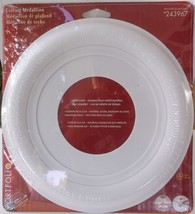 """10"""" Floret Ceiling Medalion White For Light Or Fan - Brand New Sealed - Free S/H - $8.90"""