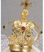 """Metal Crown with Swarovski Crystals for 12"""" statues - 1 5/8"""" in Diameter - $67.95"""