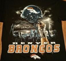 Denver Broncos Sky Helmet T Shirt Nfl Licensed Apparel - $21.99