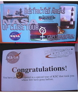 Nasa Kennedy Space Center Tour Tag With Shuttle Pin - $6.00