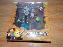 "Minecraft Vindicator Medium Size 5"" Action Figure Toy New Mattel Mojang  - $22.00"