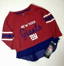 New York NY Giants Infants Sz 18M Shirt Layered Ruffle Bottom Long Sleeve A20-6 - $15.28