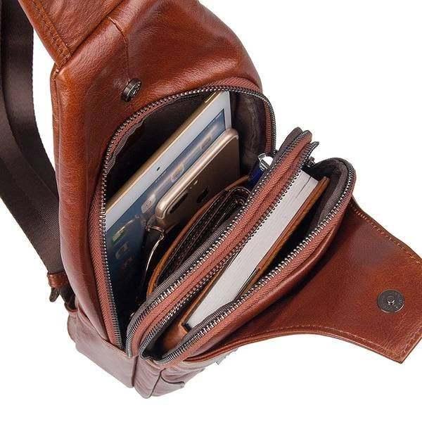 Sale, Messenger Bag, Men's Leather Messenger Bag, Men's Cross Leather Bag, Verti image 5