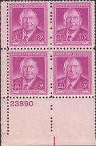 1948 Harlan F Stone Plate Block of 4 US Postage Stamps Catalog 965 MNH