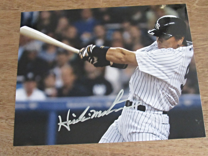 Primary image for HIDEKI MATSUI WSC MVP NEW YORK YANKEES SIGNED AUTO 8X10 COLOR PHOTO