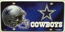Cowboys plate tag