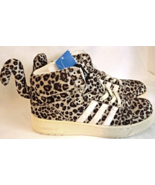 Adidas jeremy scott wings leopard tail men size 7.5 athletic shoes - $215.00