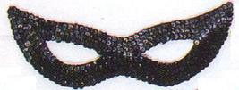 BLACK SEQUIN SWALLOW OR CAT EYE HALF MASK - $6.00