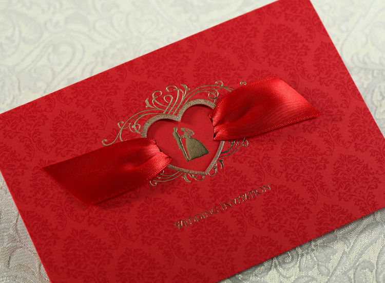 Wedding invitation cards CW1041, envelopes, seals, custom personalized printing
